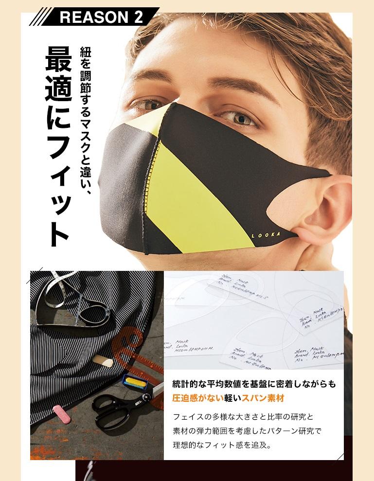 LOOKA デザイン マスク フィット感