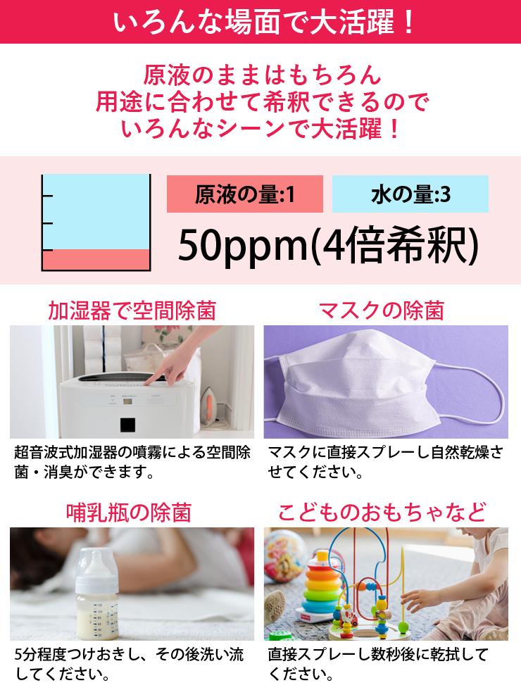 次亜塩素酸水50ppm
