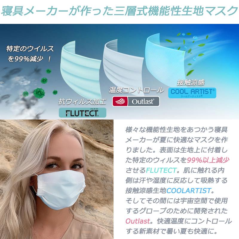 CooLZON〜もっと眠りを楽しもう! 日本製ひんやりマスク「COOLOUT」 三層式機能性生地マスク