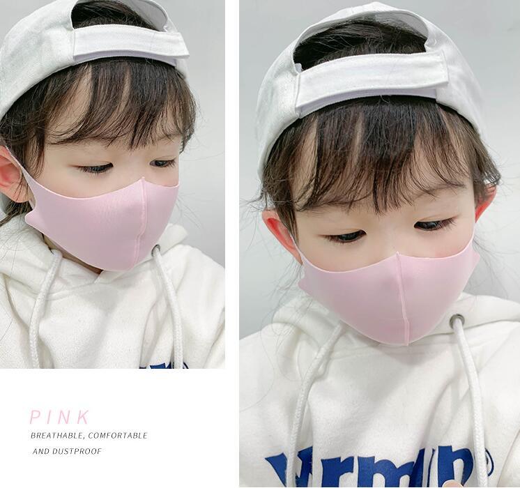 コラボファッション 子供用ひんやりマスク ピンク