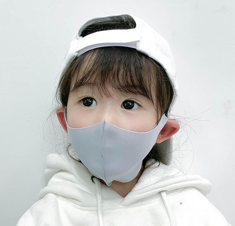 コラボファッション 子供用ひんやりマスク グレー