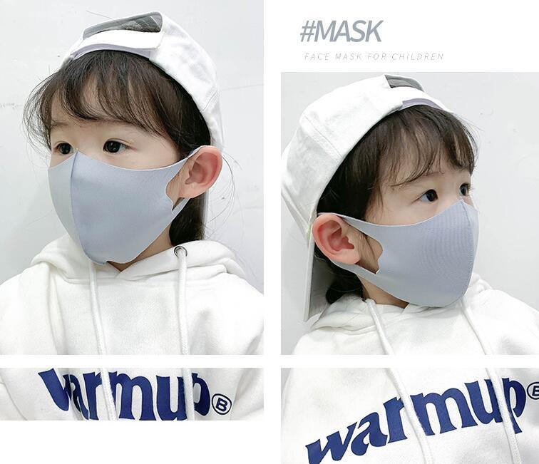 コラボファッション 子供用ひんやりマスク グレー2
