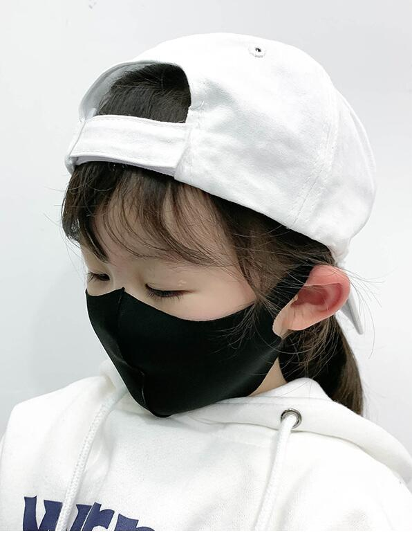 コラボファッション 子供用ひんやりマスク ブラック