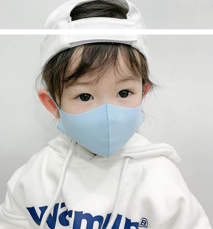 コラボファッション 子供用ひんやりマスク ブルー