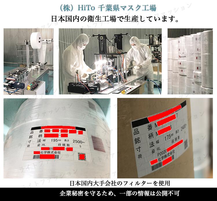 ライトファッション 日本製不織布使い捨てマスク 工場の様子